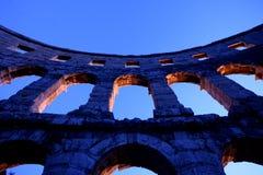 Archi del amphitheatre romano Fotografia Stock Libera da Diritti