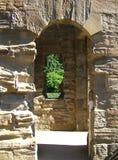 Archi del castello Fotografie Stock