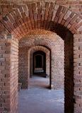 Archi del mattone Fotografia Stock