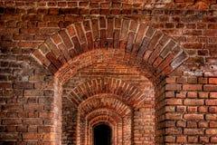 Archi del mattone Fotografie Stock