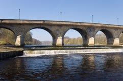 Archi del ponticello di Hexham Fotografia Stock