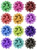 Archi del regalo - 12 colori Fotografia Stock