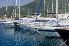 Archi della barca all'ancoraggio Fotografia Stock Libera da Diritti