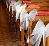 Archi di bianco in chiesa cattolica. Fotografia Stock Libera da Diritti