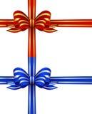 Archi di colore rosso e dell'oro & dell'azzurro e dell'argento illustrazione vettoriale