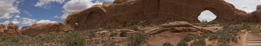 Archi e Canyonlands NP, panorama di UT Fotografia Stock Libera da Diritti
