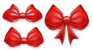Archi eleganti di rosso messi Illustrazione di vettore Royalty Illustrazione gratis