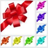 Archi multicolori del nastro Fotografie Stock