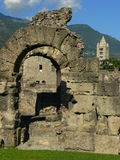 Archi, romano de Teatro, Aosta (Italie) Images libres de droits
