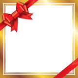 Archi rossi del regalo con i nastri Immagine Stock Libera da Diritti