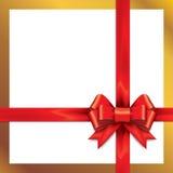 Archi rossi del regalo con i nastri Immagini Stock