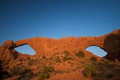 Archi rossi della roccia Fotografie Stock
