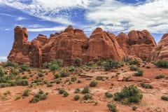 Archi sosta nazionale, Utah fotografie stock