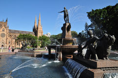 Archibald喷泉 库存照片