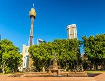 The Archibald Fountain in Hyde Park - Sydney, Australia Stock Photos