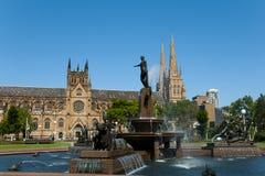 Archibald Fountain - Sydney - Australien stockfotos