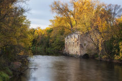 Archibald Mill. The ruins of Archibald Mill along the Cannon River in Dundas, Minnesota Stock Photography