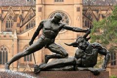 archibaldAustralien springbrunn sydney Arkivfoton