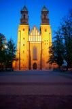 archicathedral νύχτα Πόζναν βασιλικών Στοκ φωτογραφία με δικαίωμα ελεύθερης χρήσης