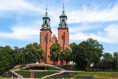 Archicathedralbasiliek in Gniezno, Polen Royalty-vrije Stock Foto's