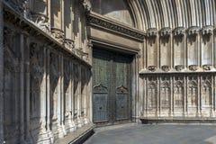 Archictural-Elemente von Girona-Kathedrale Lizenzfreies Stockfoto