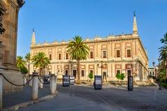 Archief van Brits-Indië Archivo General DE Indias, Sevilla, Spanje stock foto