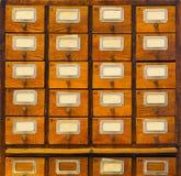 Archiefkast op een bureau Royalty-vrije Stock Foto's