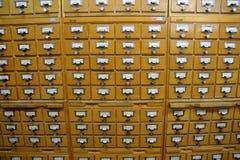 Archiefkasten in de bibliotheek Royalty-vrije Stock Afbeelding