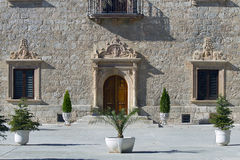 archiepiscopal palace in Alcala de Henares stock photo