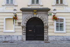 The Archiepiscopal Palace entrance Royalty Free Stock Photos