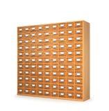 archieven Kabinet met laden voor archivistische documenten 3d illust Stock Afbeeldingen