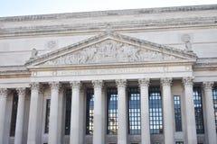 Archieven van het gebouw van de Verenigde Staten van Amerika stock foto