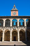 Archiginnasio av bolognaen. Emilia-Romagna. Italien. Arkivfoton