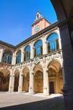 Archiginnasio of Bologna. Emilia-Romagna. Italy. Perspective of the Archiginnasio of Bologna. Emilia-Romagna. Italy Stock Photography