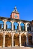 Archiginnasio of Bologna. Emilia-Romagna. Italy. Perspective of the Archiginnasio of Bologna. Emilia-Romagna. Italy Stock Photo
