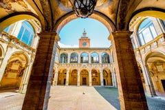 Archiginnasio von Bologna lizenzfreie stockfotografie