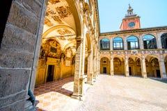 Archiginnasio von Bologna lizenzfreies stockbild