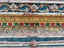 Archihtectural Tajlandzki styl, dekoracja Płytki, ceramiczne, ornamenty zdjęcia stock