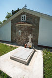 Archimandrite Pachomius grave in the monastery of St. George in Pomorie, Bulgaria Royalty Free Stock Images