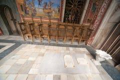 ArchimandriteJosephs gravvalv - byggmästare av den Rila kloster i Bulgarien Royaltyfri Foto