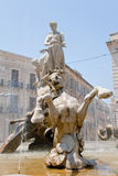 archimede πλατεία Συρακούσες π&eta Στοκ φωτογραφία με δικαίωμα ελεύθερης χρήσης