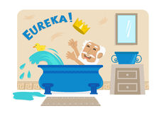 Archimedes In Bathtub Stock Photos