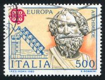 Archimedes en zijn schroef Stock Afbeelding