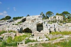 Archimedes gravvalv i Syracuse Royaltyfri Foto