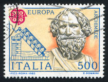 Archimedes und seine Schraube Stockbild
