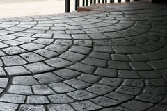 Arching Cobblestone Pavers. These are some lovely old sidewalk pavers in a arching pattern in Charleston South Carolina royalty free stock photography