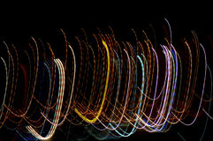 Arching lights. Light from night in an abstract style from a place called Denia in Spain Royalty Free Stock Photography