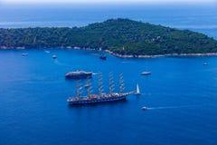 Archipel de Dubrovnik Images libres de droits