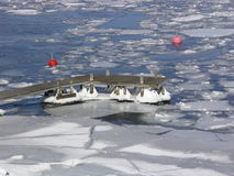 Archipel de l'hiver Photos stock
