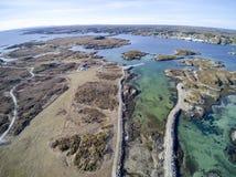 Archipel in de luchtmening van Noorwegen, hommelmening Royalty-vrije Stock Fotografie